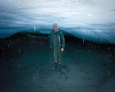 My Father in the Ice Cave, Alaska, 2013