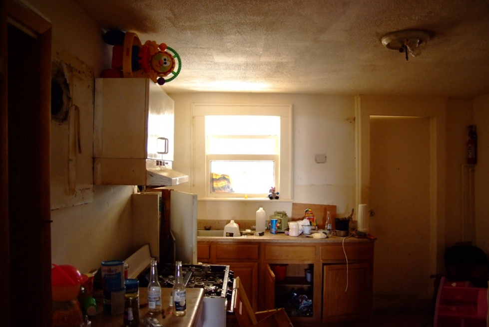 Tenants were most likely evicted, leaving parts of there life behind.