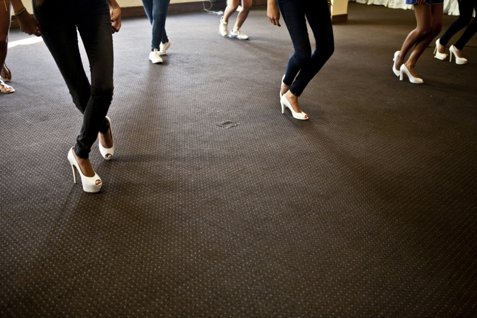 KASLIK, LEBANON Young Lebanese ladies practice their Debutante dance in their dancing shoes which they will be wearing on the night, at the Portemelio Hotel in Kaslik, Lebanon. The ladies have weekly dance practice on Saturdays.