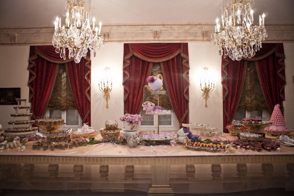 """BEIRUT, LEBANON A Baby Shower table set up at a private home, the baby shower was organised by """"Cookie Dough Events"""""""