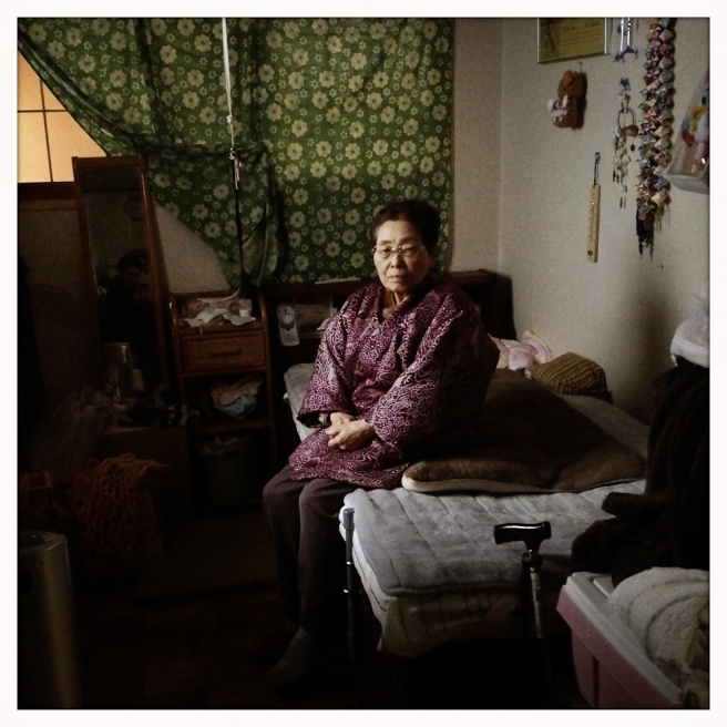 Masuko, 86, sits for a portrait at home on Main St. She has lived in Oda almost all of her life.