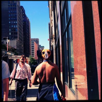 Masked Man, Midtown, NYC