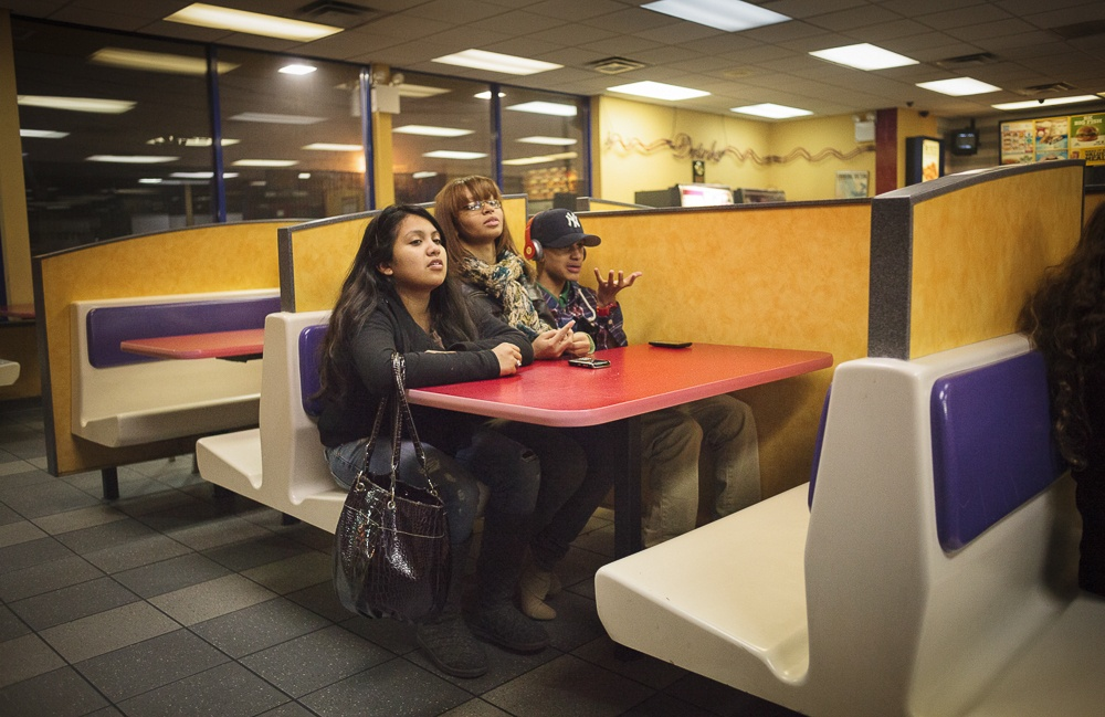 Staying out past curfew and loitering at Burger King.