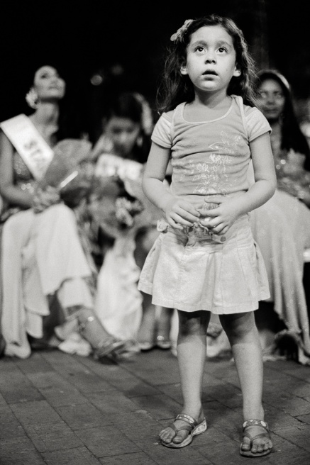 """Despite increasing opportunities for women in Colombian society, ask young girls what they want to be when they grow up and the most common answer is """"Miss Colombia""""."""