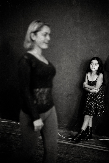 A coach's daughter during rehearsals for the Miss Rock pageant in El Peñol.