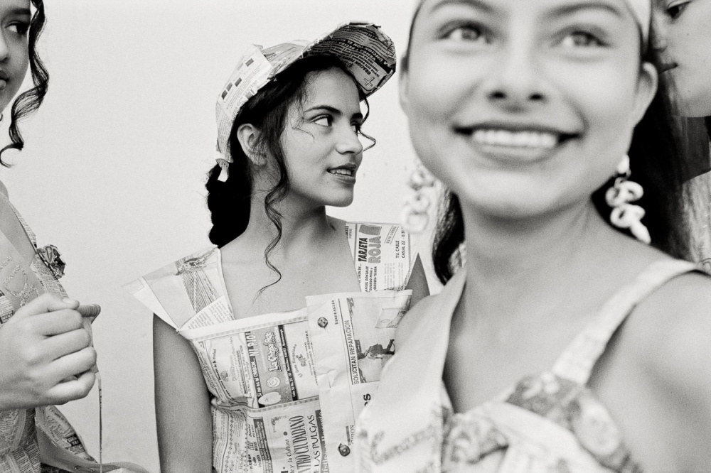 Many high schools in Colombia have an annual Miss Paper contest. Every classroom elects a candidate who competes in sportswear and evening wear competitions. All clothing must be made from newspapers.