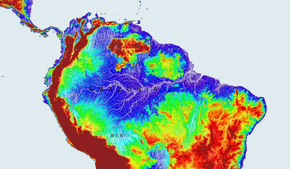 A Map of the Amazon Basin.