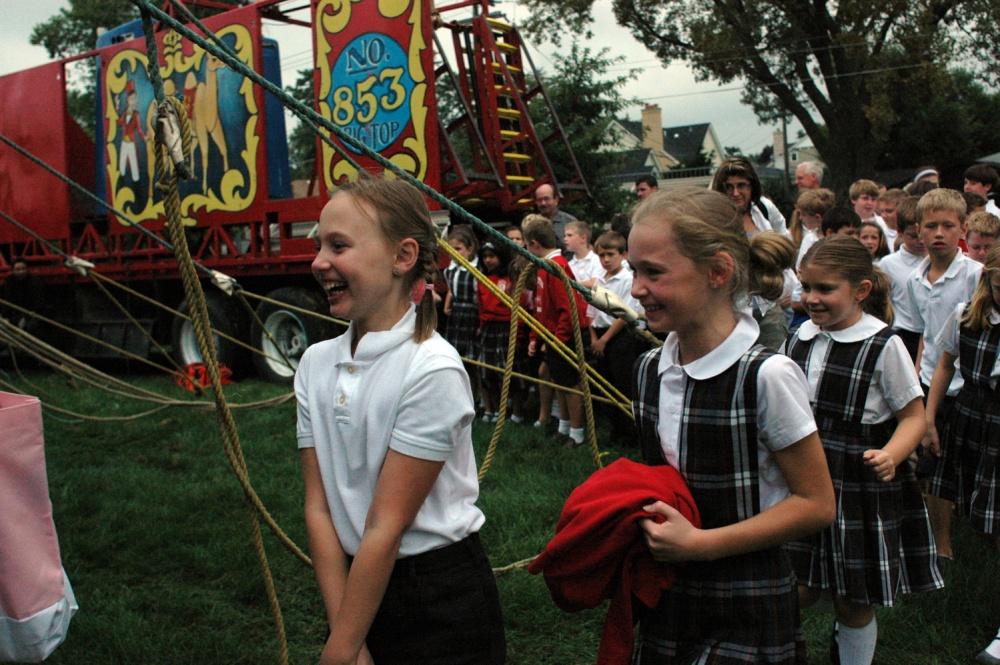 Art and Documentary Photography - Loading schoolgirls Amanda Dahl copy.jpg