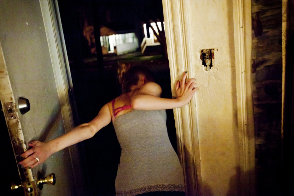 Brittney yells out the door as Darius, leaves. Darius was her boyfriend, and is her baby's father, .