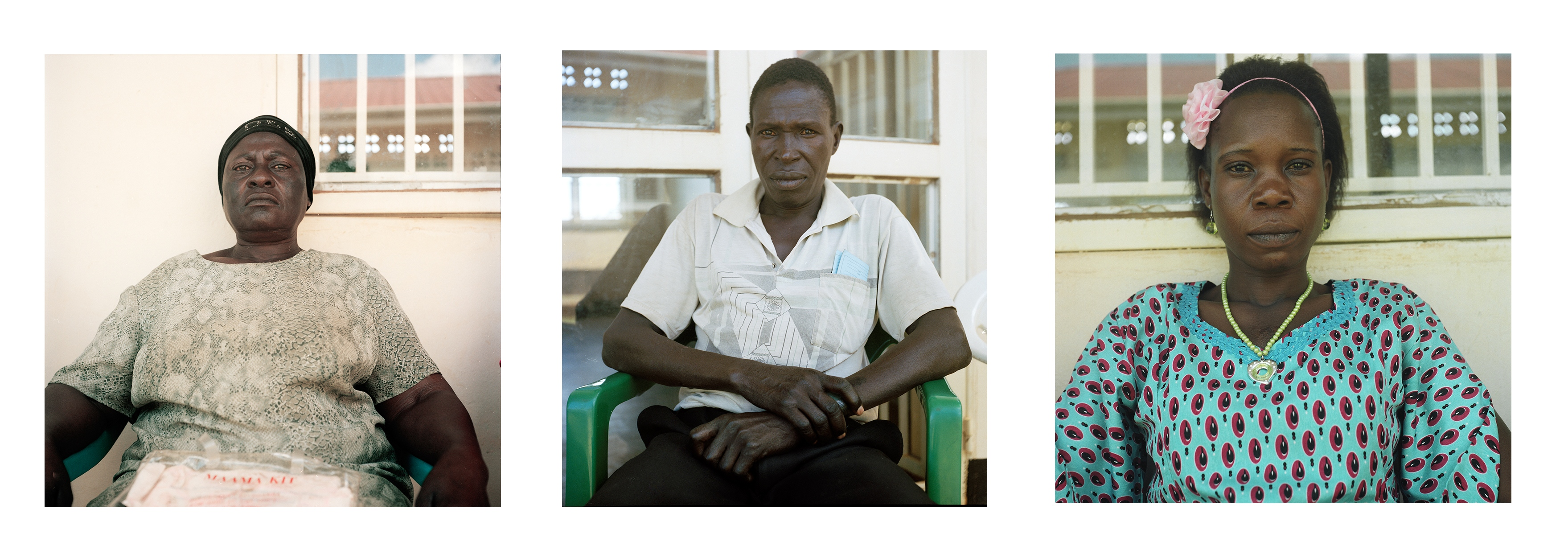 Clients waiting for ART treatment at the Lumino Health Center III in the Busia district of Uganda.