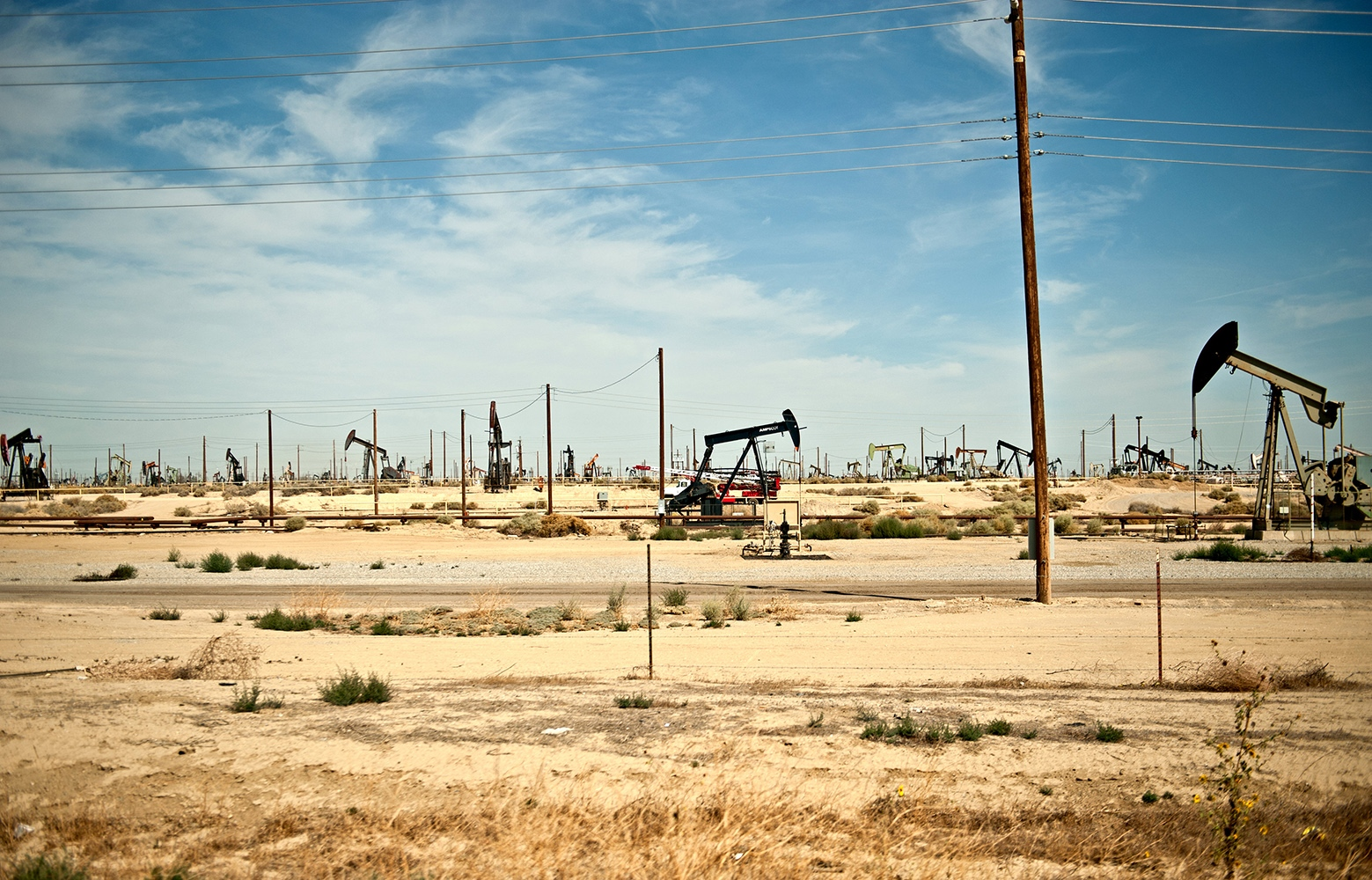 Oil Fields, Lost Hills, CA, 2013