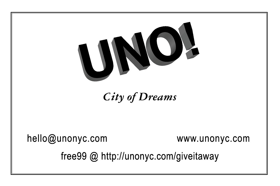 UNO NYC Records business card