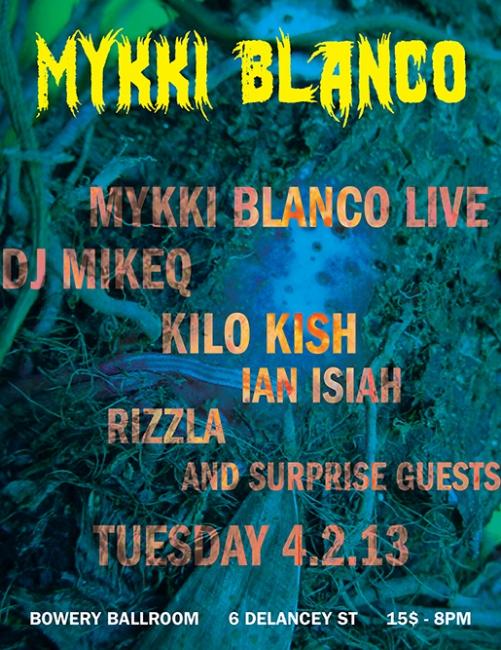 Mykki Blanco Birthday Bash UNO NYC Records, 2013