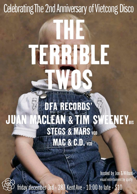 The Terrible Twos with Juan Maclean and Tim Sweeney DFA and BIS, 2012
