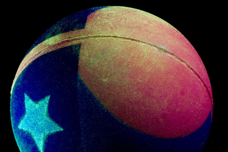 Rubber Ball with Puerto Rican Flag / 2010