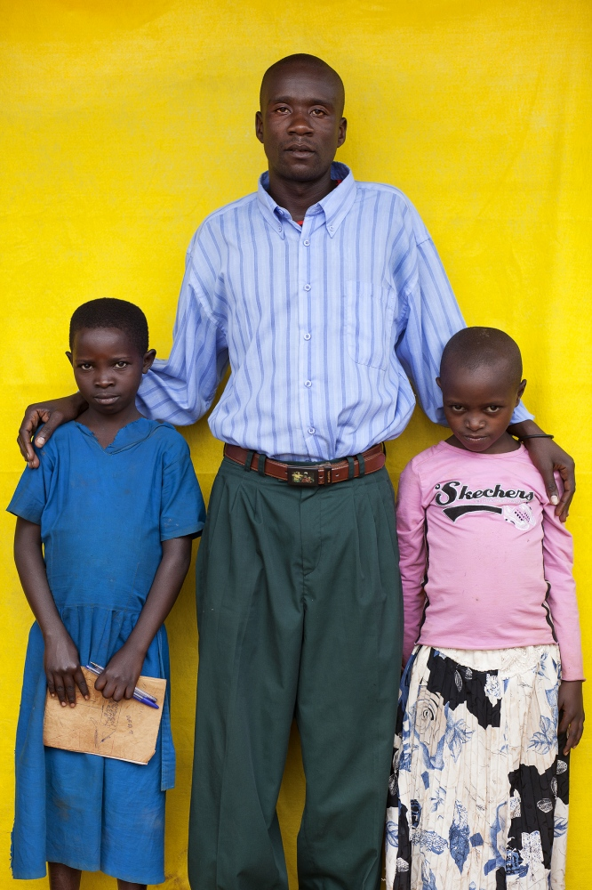 Students with their teacher, Ecole Primary School, Nyarbuye, Rwanda / 2010