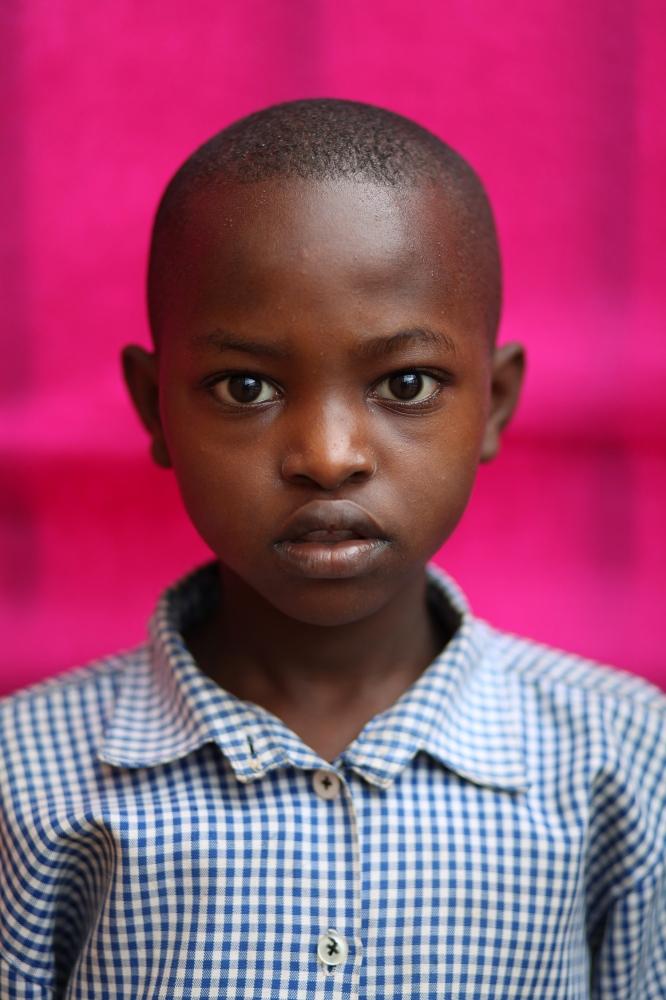 Student at the Muhima Primary School, Kigali, Rwanda / 2010