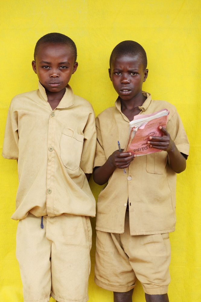 Students at the Ecole Primary School, Nyarbuye, Rwanda / 2010