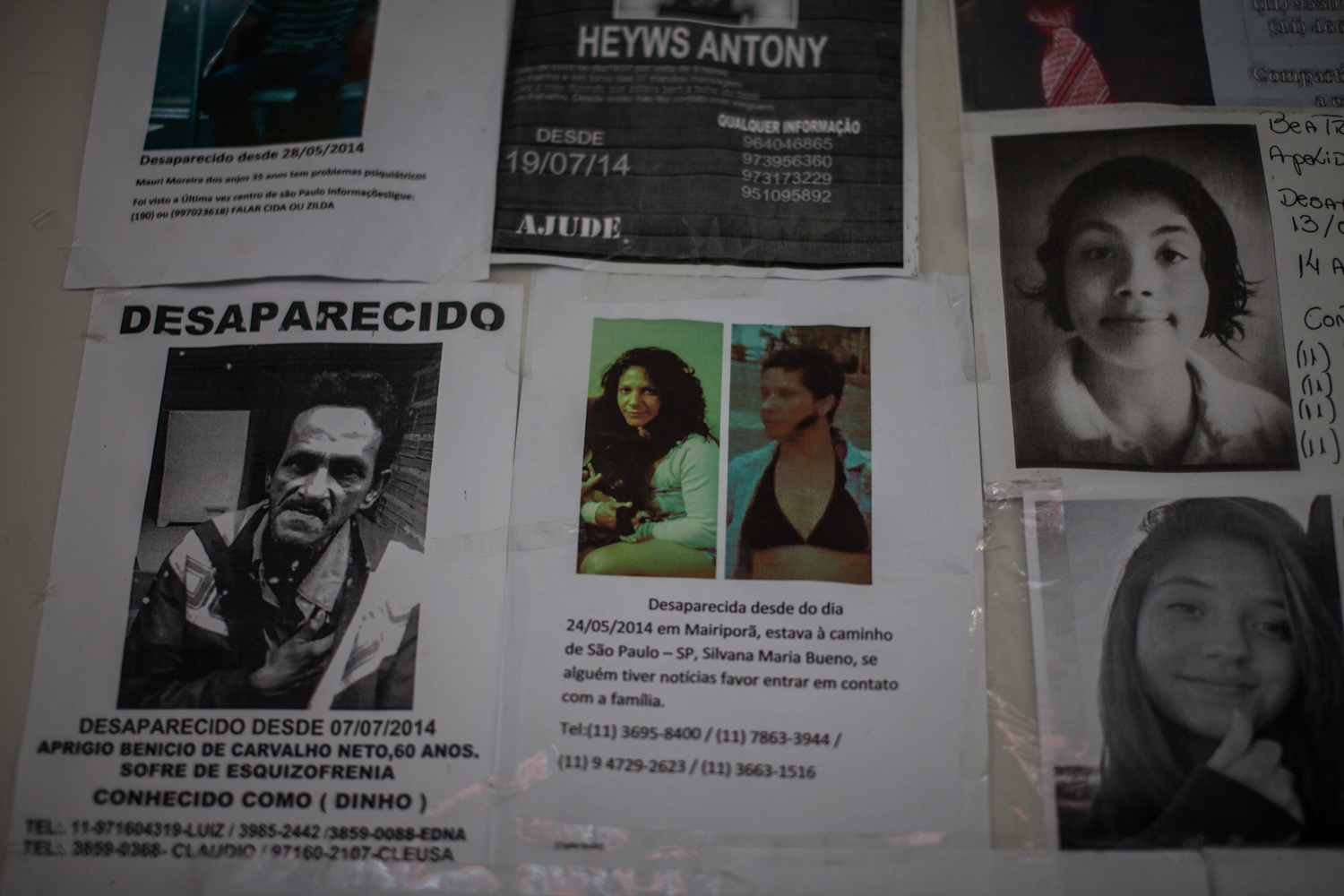 Missing people signs plague Cracôlandia. When any relatives go missing in other parts of the state of São Paulo, their family members come here looking for them. There are other Cracôlandias in Brazil, but São Paulo's is the most notorious.