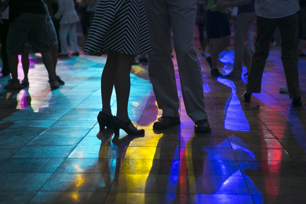 June 25, 2013. NEW YORK, NY. Swing dancers participate in Lincoln Center's Midsummer Night's Swing as celebrates it's 25th anniversary in Damrosch Park. On assignment for The Wall Street Journal