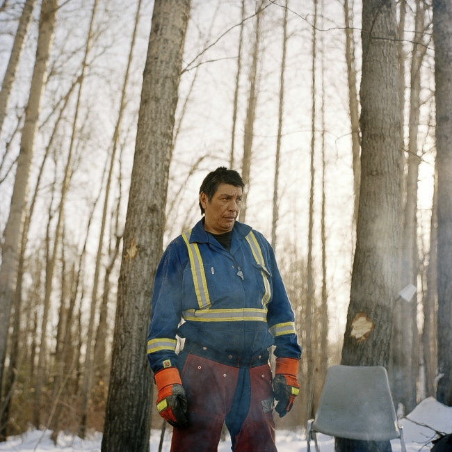 July 2013 -Roy Ladouceur, spends much of his year trapping at Poplar Point Reserve on the Athabasca River between Fort McKay and Fort Chypewyan. Through his years of living on the land he has been a witness to the impacts the Oil Sands.