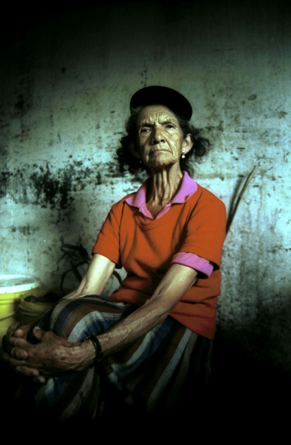 Cusio,Cundinamarca ,Colombia, Portrait of my Grandmother in her kitchen  meanwhile we wait for lunch time.