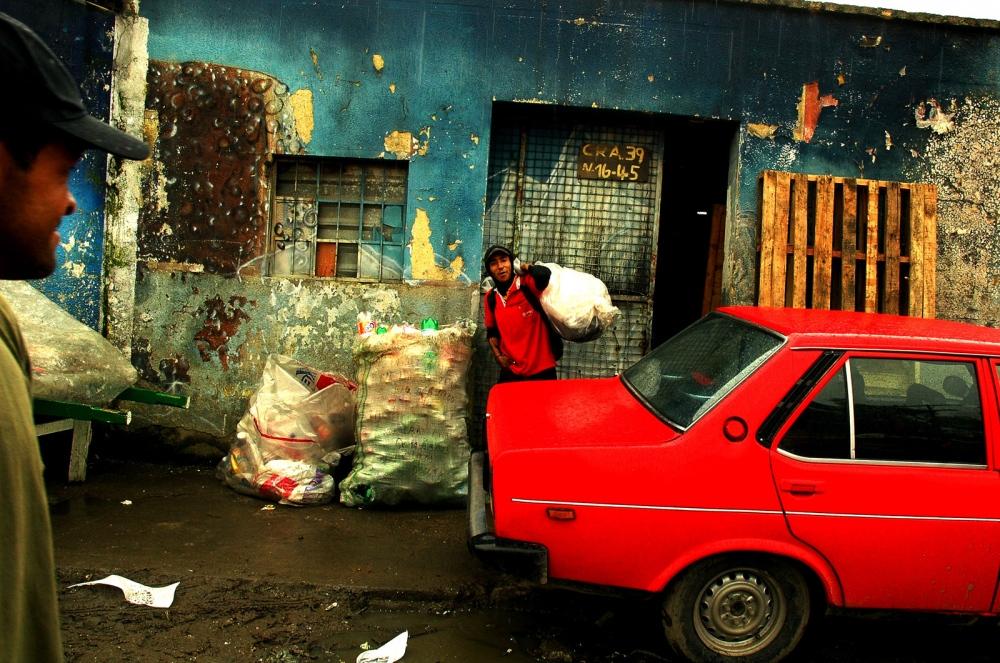 Bogota, Colombia, Marginal neighborhood where people use recycling as livelihood.