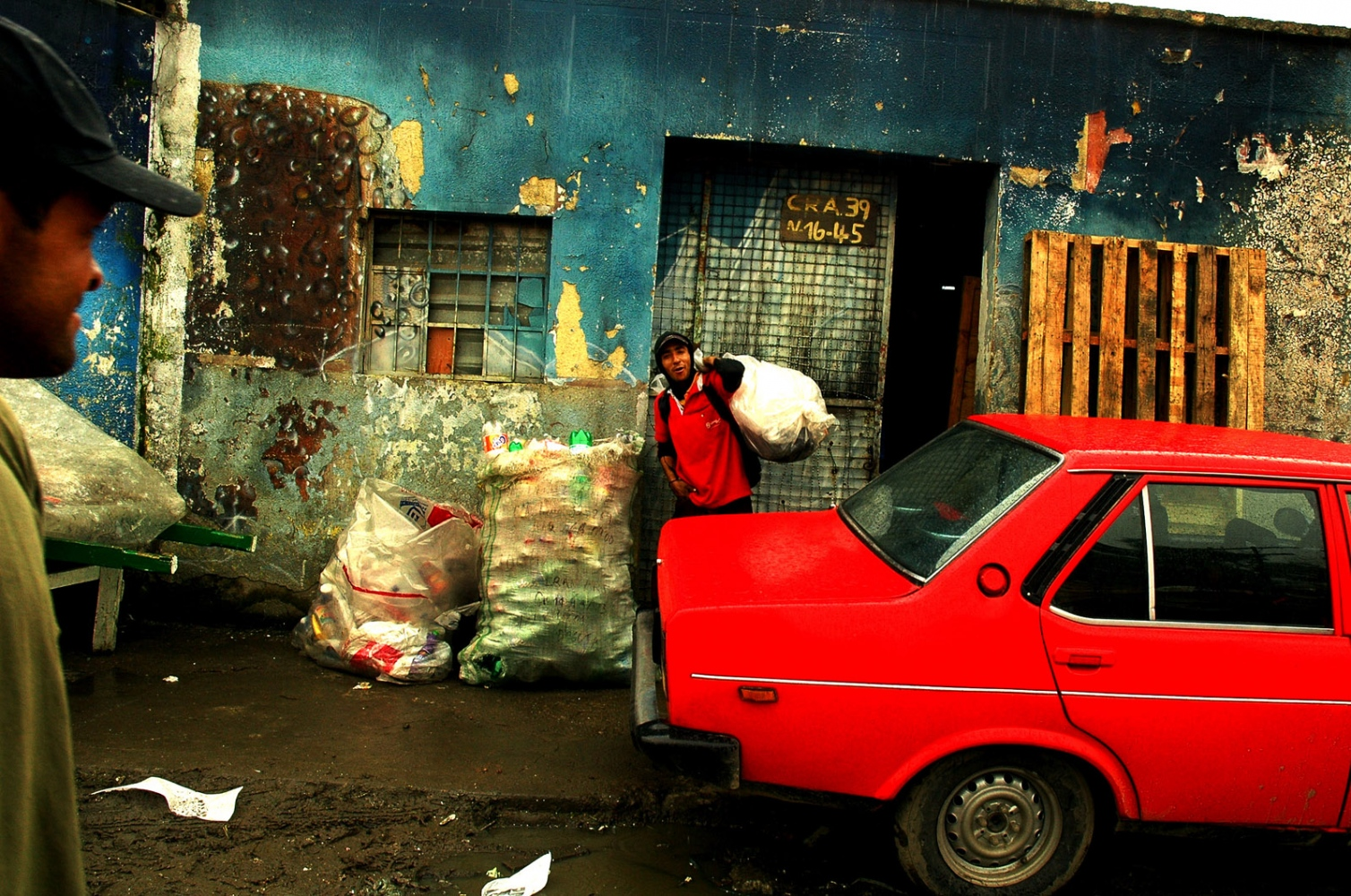 Bogota,Colombia, Marginal neighborhood where people use recycling as livelihood.