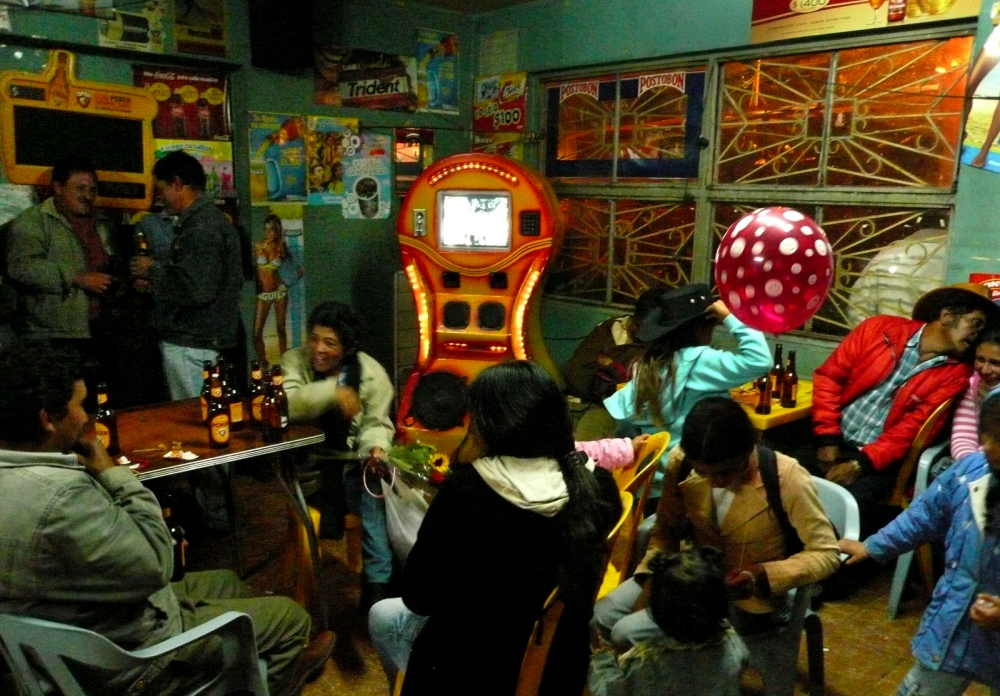 Boyaca, Colombia countryside bar.