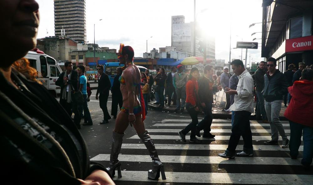 Bogota Colombia, Gay Parade in Bogota streets.