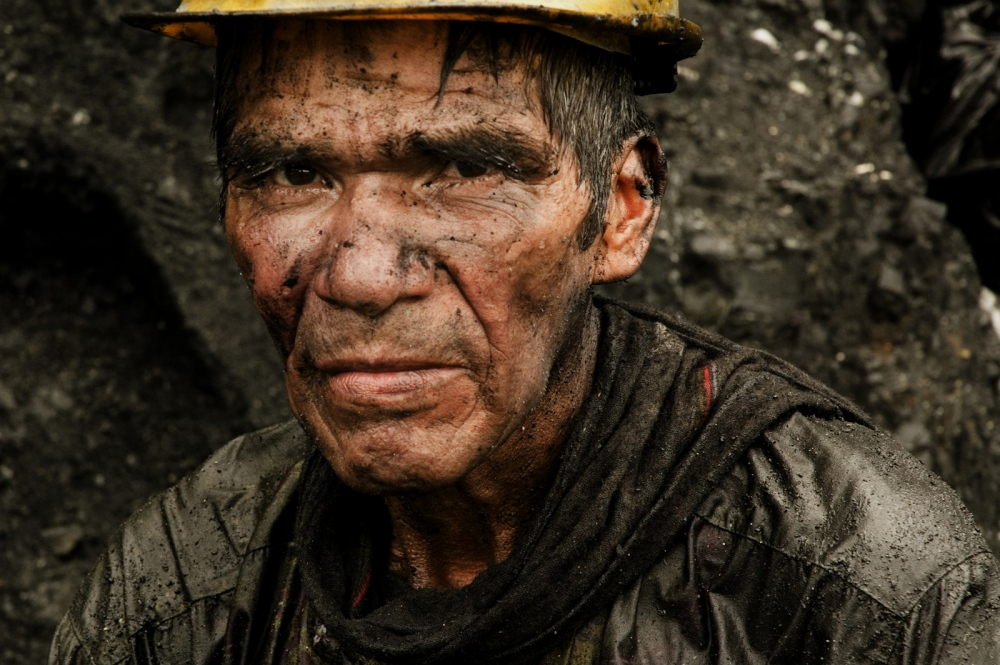 "Portrait of a ""guaquero"" (independent emerald mine laborer). Muzo, Boyacá Colombia."