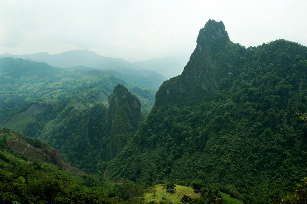 Funa and Tena montains pecks named for the indigineous people as a part of their folklore traditions inn Muzo, Boyacá, Colombia.