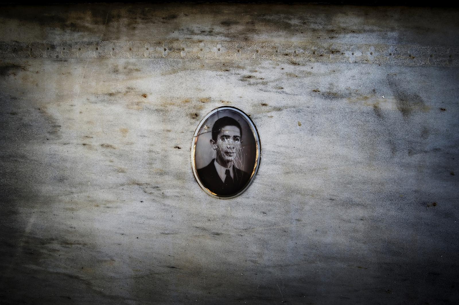 2009 - A Jewish gravestone in Jewish Cemetery of Fez, Morocco.