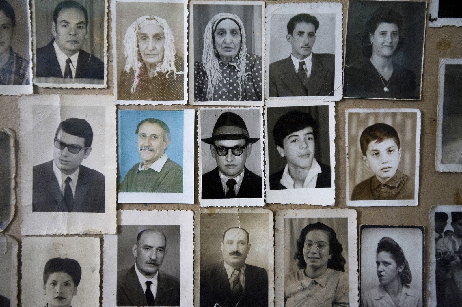 2009- A collection of head shots of former Jewish residents of Fez are displayed in a small museum located in the Jewish Cemetery. Fez was the first city in Morocco with a Mellah or Jewish Quarter which was established in 1438 adjacent to the Royal Palace.