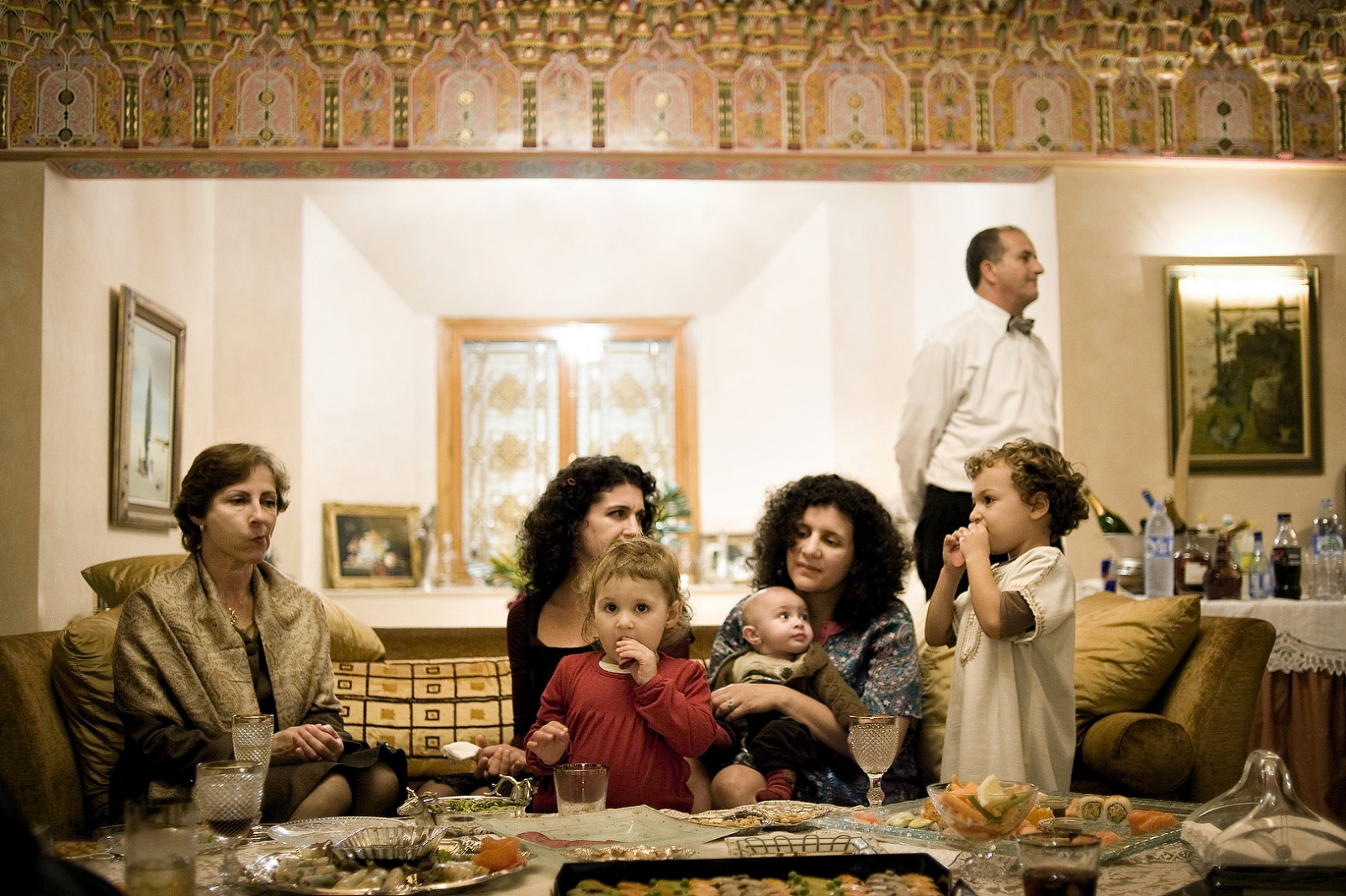 2010 - A wealthy Moroccan Jewish family holds a party for the Mamouna festival in Casablanca Morocco. The Mamouna is originally a Moroccan Jewish holiday when Jews opened their doors to their Muslim and Jewish neighbours to share in the festivities.