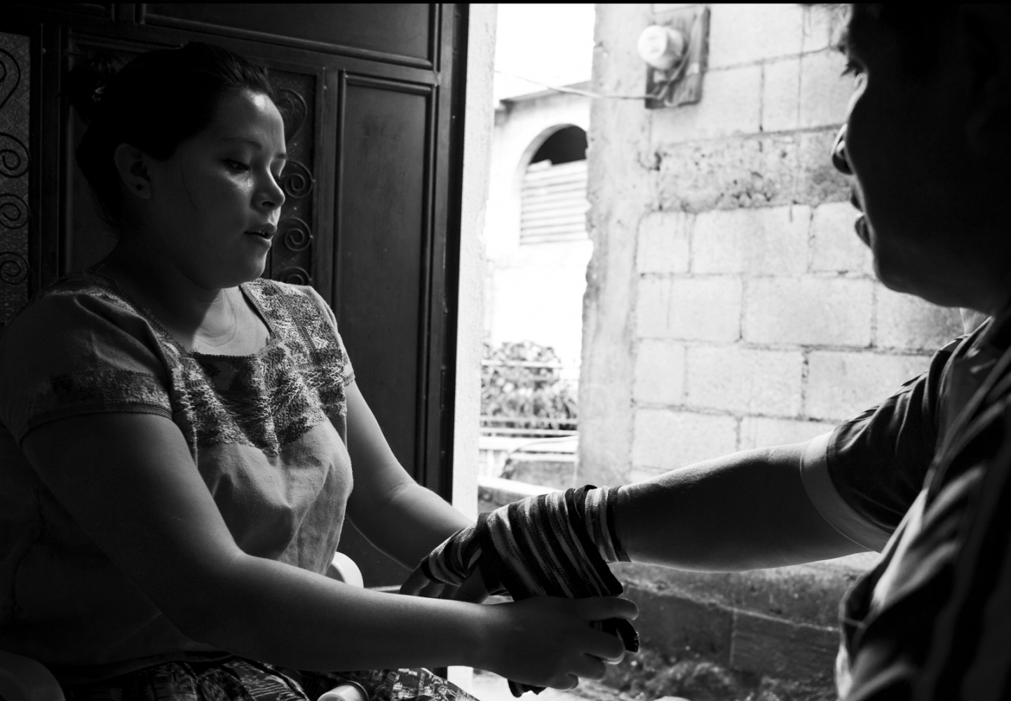Wendy Tuch Gonzalez curing Jose Luis Gonzalez