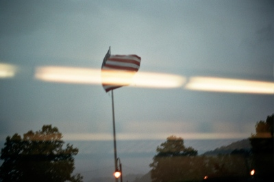 A flag in a rainstorm, Hudson Valley, NY