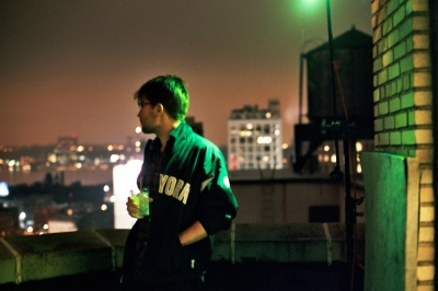 Denis on the roof in early May, New York, New York