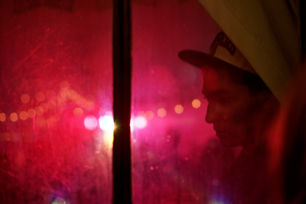 Malcolm through a window, New York, New York