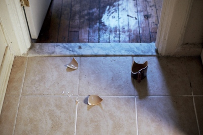 The broken mug on my kitchen floor, Brooklyn, NY