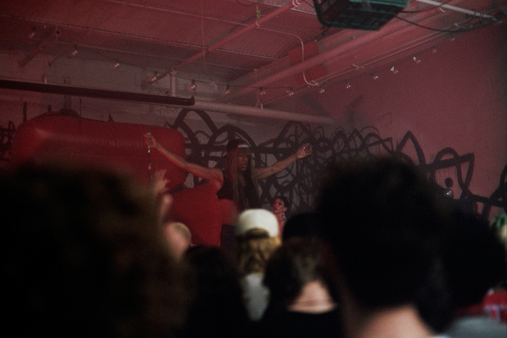 Mykki Blanco performing,Brooklyn, NY