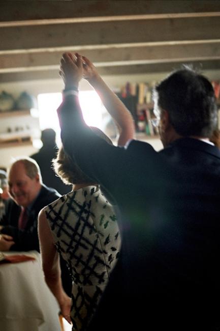 Lisa and Perrin dancing at their wedding, Beacon, NY