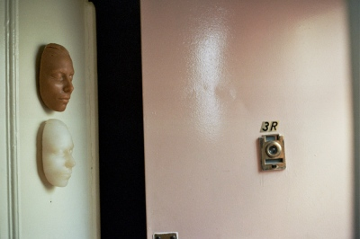 Two casts of Michele's face, Brooklyn, NY