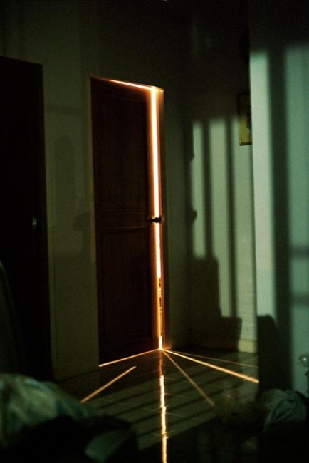 Light through the bedroom door, Pattaya, Thailand