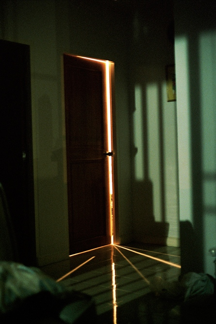 Light through the bedroom door, Pattaya, Thailand