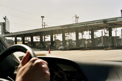 Driving through the toll booth, Garden State Parkway, NJ