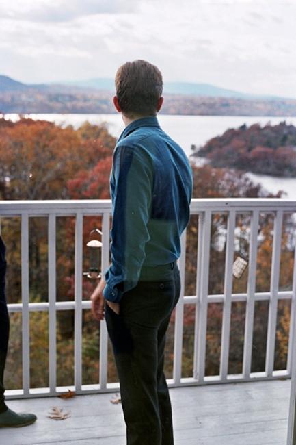 Denis looking at the river, Beacon, NY