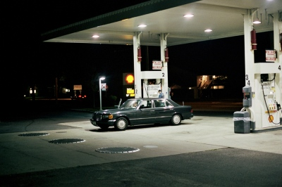 Malcolm's car at the gas station, Long Island, NY