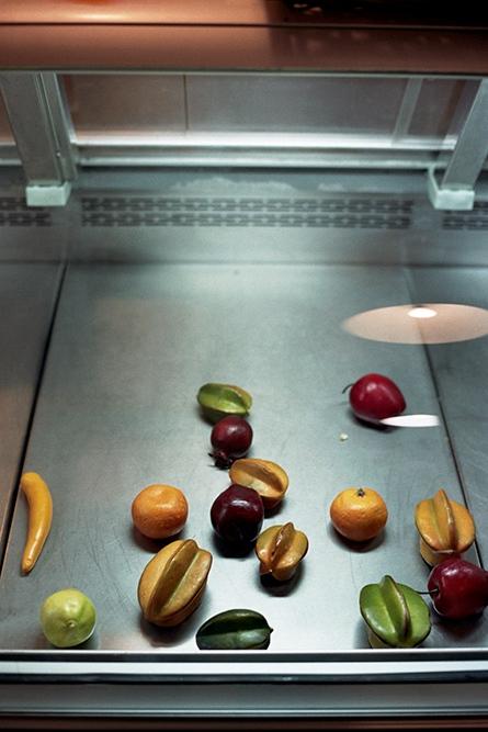 Fake fruit in the deli, New York, NY