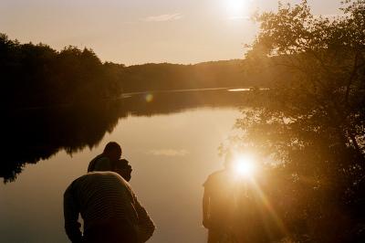 The resivouir at sundown, Ashaway, RI